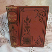 1875 The Wide Wide World by Elizabeth Wetherell, Publ J C Lippincott & Co
