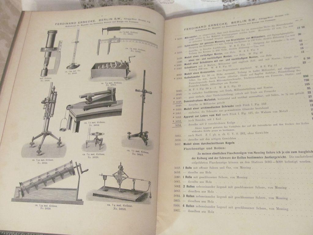 Early Ferdinand Ernecke #18 Scientific Instruments Catalog, Price ...