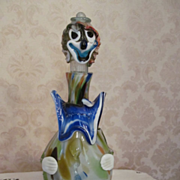"14""  Murano Clown Bottle, Decanter"