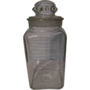 Old Drug Store Candy, Apothecary Jar, Thumbprint Lid