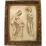 1967 Maiden Plaster Wall Plaque by Roncraft