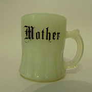 Custard Glass Toothpick Holder, Mother