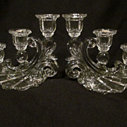 Lovely Cambridge Caprice 3 Light Candle Holder Set