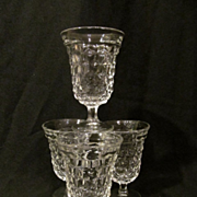 "4 American Fostoria 5 3/8"" Water Goblets + 4 More"