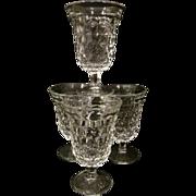 "4 American Fostoria 5 3/8"" Water Goblets + 4 More"