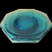4 Hazel Ware Blue Capri Octagonal Luncheon Plates + 4 More