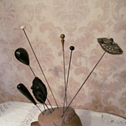 Shoe Hatpin Holder with Hat Pins