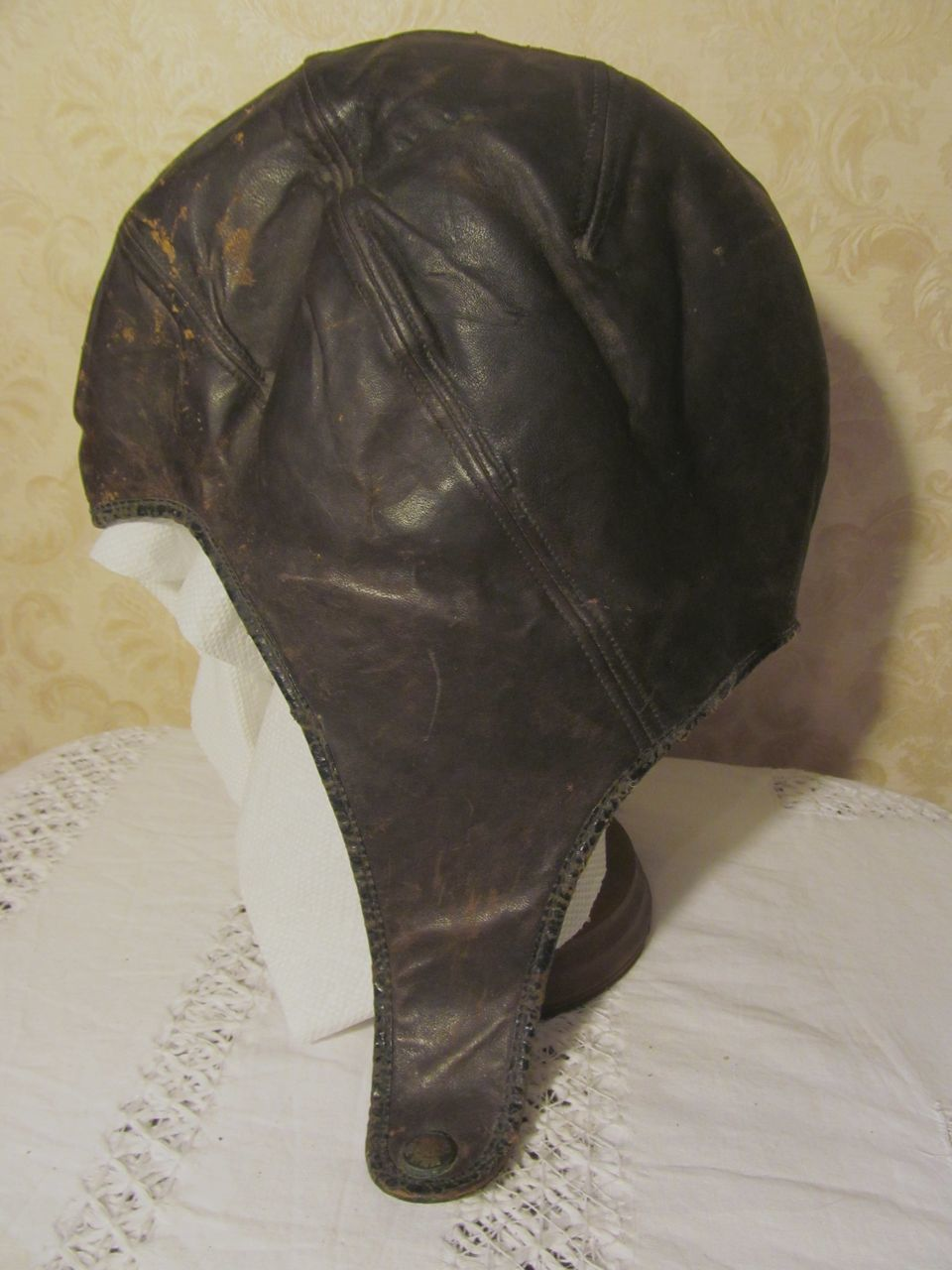 Leather Aviation, Pilot, Motorcycle Cap, Hat..Berlin Tanning & Mfg Co