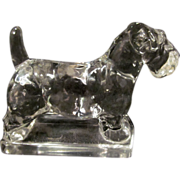 Heisey Glass Scottie Dog Figurine