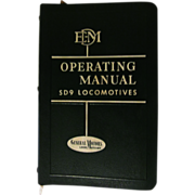 1954 EMD Diesel Locomotive Operating Manual, No 2319 for Model SD9 with Vapor Car Steam Generator, General Motors Corp