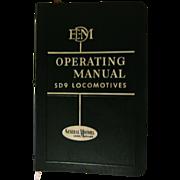 1954 EMD Diesel Locomotive Operating Manual, No 2319 for Model SD9 with Vapor Car Steam Generator, General Motors Corp