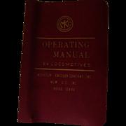 1973 Diesel Electric Locomotive Operating Manual #C2622 for Burlington Northern Model E9, Morrison-Knudsen Company Inc