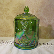 Indiana Harvest Grape Green Carnival Canister Jar