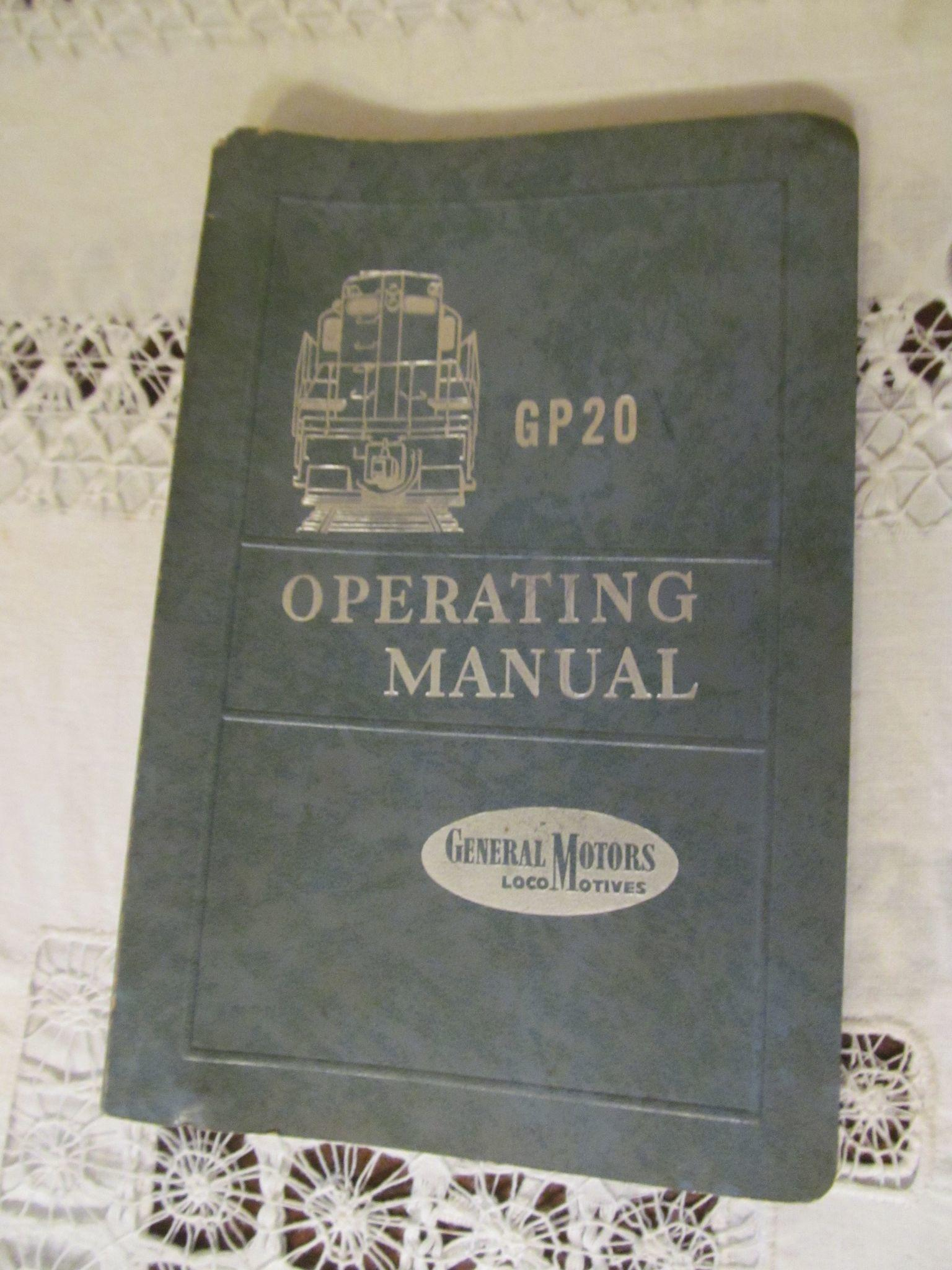 1959 Emd Diesel Locomotive Operating Manual For Model Gp20  General From Prairieland On Ruby Lane