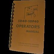 1966 EMD Diesel Locomotive  SD40 - SDP40 Operators Manual, General Motors