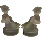 Goose Girl Satin Bookends by Century Glass Company