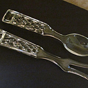 Wexford Glass Salad Fork & Spoon Set by Anchor Hocking