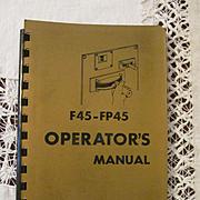 1968 EMD F45 - FP45 Diesel Locomotive Operators Manual, General Motors