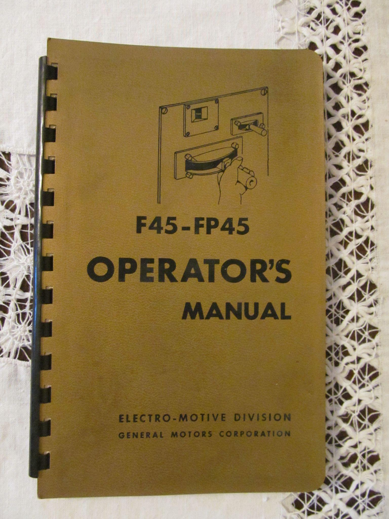 1968 EMD F45 - FP45 Diesel Locomotive Operators Manual, General Motors
