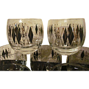 8 Roly Poly Mid Century Barware Glasses