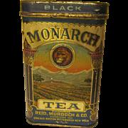 Monarch Metal Black Tea Tin with Hinged Lid