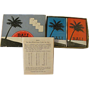 1954 Bali Word Card Game with Instructions, Unopened Playing Cards
