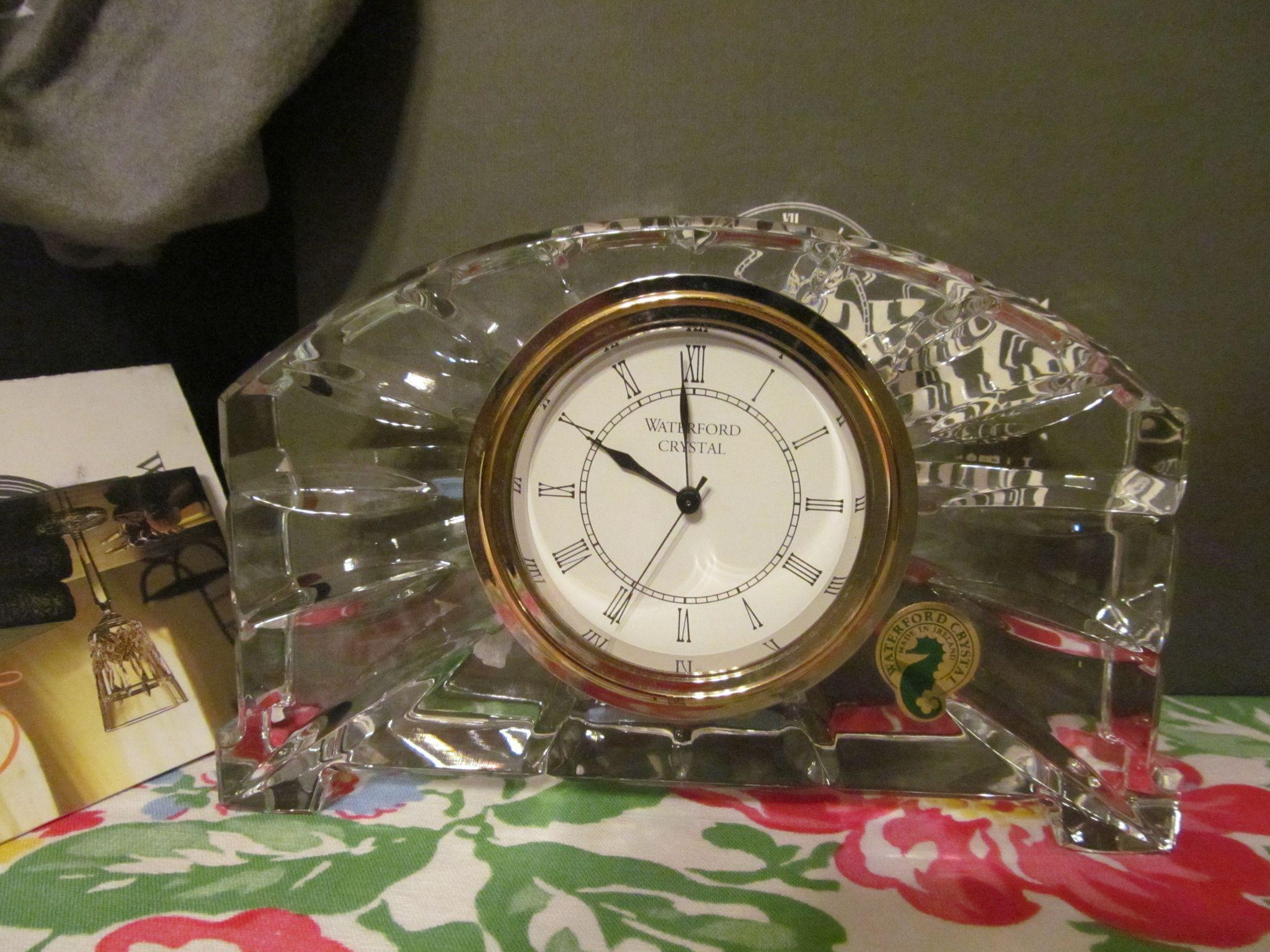 Waterford Wharton Mantle Clock, Paperwork, Box, Never Used