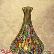 "Lovely Millefiori 10"" Paperweight Vase"