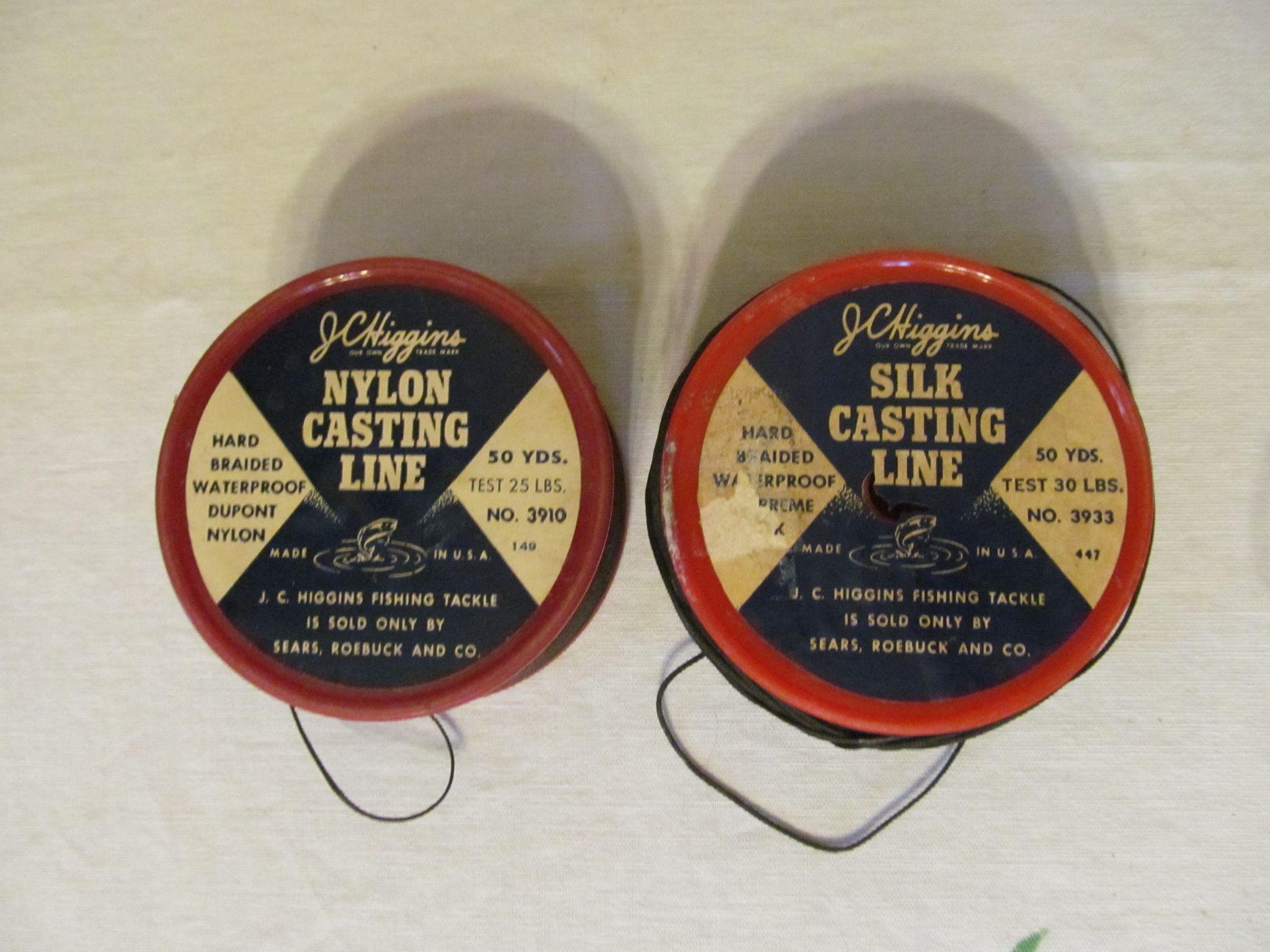 J C Higgins Nylon Casting Line & Silk Casting Line