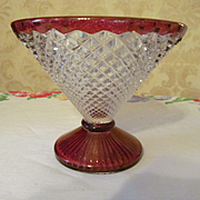 English Hobnail Ruby Flashed Candy Base, Westmoreland