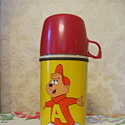 1963 Alvin Metal Lunch Bucket Thermos by Thermos