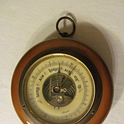 Germany Brass Wood Wall Barometer