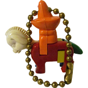 Mexican on Donkey Plastic Put Together Take Apart Puzzle Keychain