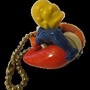 Circus Acrobat Man Plastic Put Together Pull Apart Puzzle Keychain