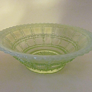 Imperial Vaseline Opalescent Beaded Block Bowl