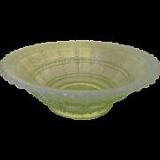 Imperial Vaseline Opalescent Beaded Block Bowl
