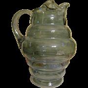 Dunbar Flint Glass Company Blue Pitcher