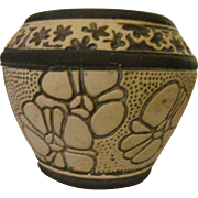 Weller Pottery Burntwood Mini Jardiniere, Cabinet Vase