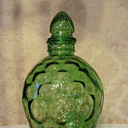 Green Wheaton Honeycomb Bottle Decanter