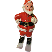Christmas Santa Hard Plastic Candy Container