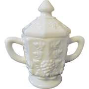 Westmoreland Paneled Grape Covered Sugar Jar