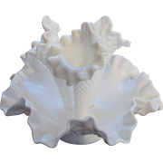 Fenton Hobnail Milk Glass Apartment Size Epergne