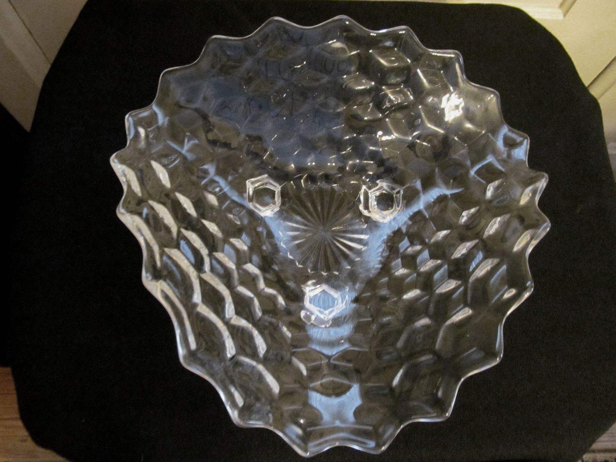 "American Fostoria Tricorner Footed 11"" Bowl"