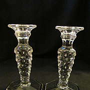 Fostoria American Candle Holders