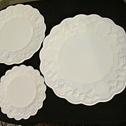 Westmoreland Paneled Grape Plates, Dinner Luncheon and Dessert