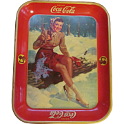 1941 Coca Cola Tray, Girl on Ice Skates, American Art Works