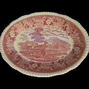 Adams Staffordshire England English Scene Mulberry Large Platter