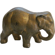 Cast Iron Elephant Paperweight, Trunk Down
