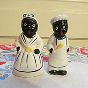 Black Mammy and Chef Salt and Pepper Shakers, Japan