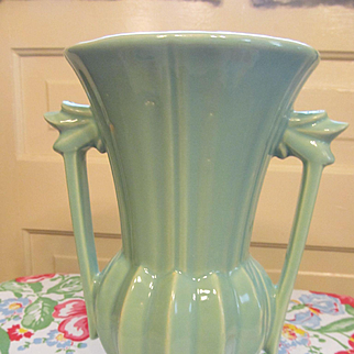 "McCoy Pottery 9"" Handled Vase"